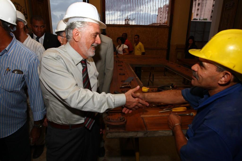 Governador vistoria obras do Centro Histórico de Salvador (Foto Manu Dias).