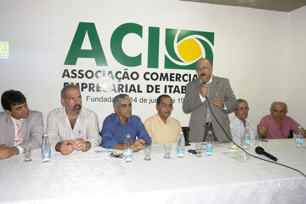 Eduardo Fontes fala de seus projetos para a ACI (foto Waldir Gomes)