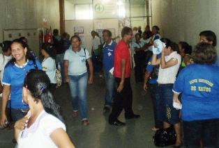 Os agentes ocuparam o prédio da prefeitura