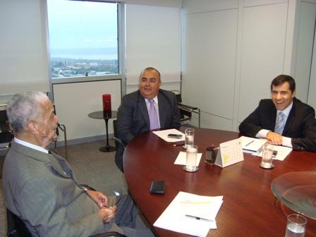 Veloso se reuniu com os executivos do BB, Simão Kovalski e Alexandre Correia