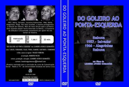 Capa do DVD 'Do goleiro ao ponta-esquerda', de Leandro Afonso