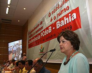 Dilma vai a conferência e faz brilhar olhos dos cururus (Foto Vermelho)