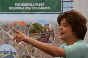 Dilma Roussef em visita ao estado (Foto Manu Dias).