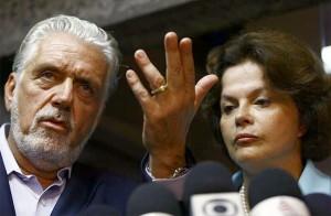 Wagner recebe presidenciável Dilma Roussef.