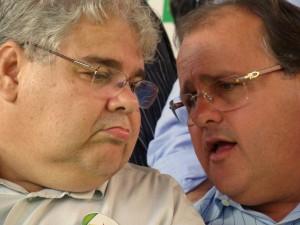 Lúcio ao lado de Geddel: calou a boca.