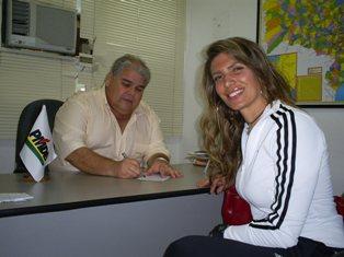 A bela Patrícia Nuno decidiu-se pelo PMDB.