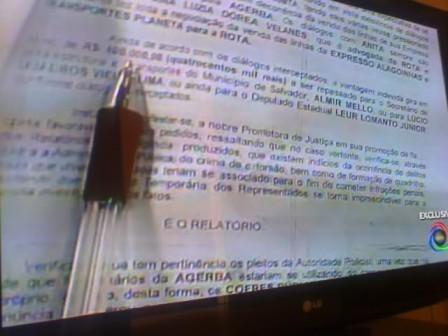 Reprodução da imagem exibida no programa Balanço Geral, da TV Itapoã, com Raimundo Varela