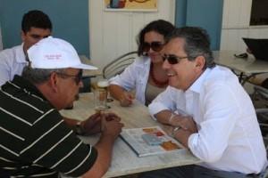 Paulo Henrique Amorim e a conversa afiada com Saldanha (Foto José Nazal).